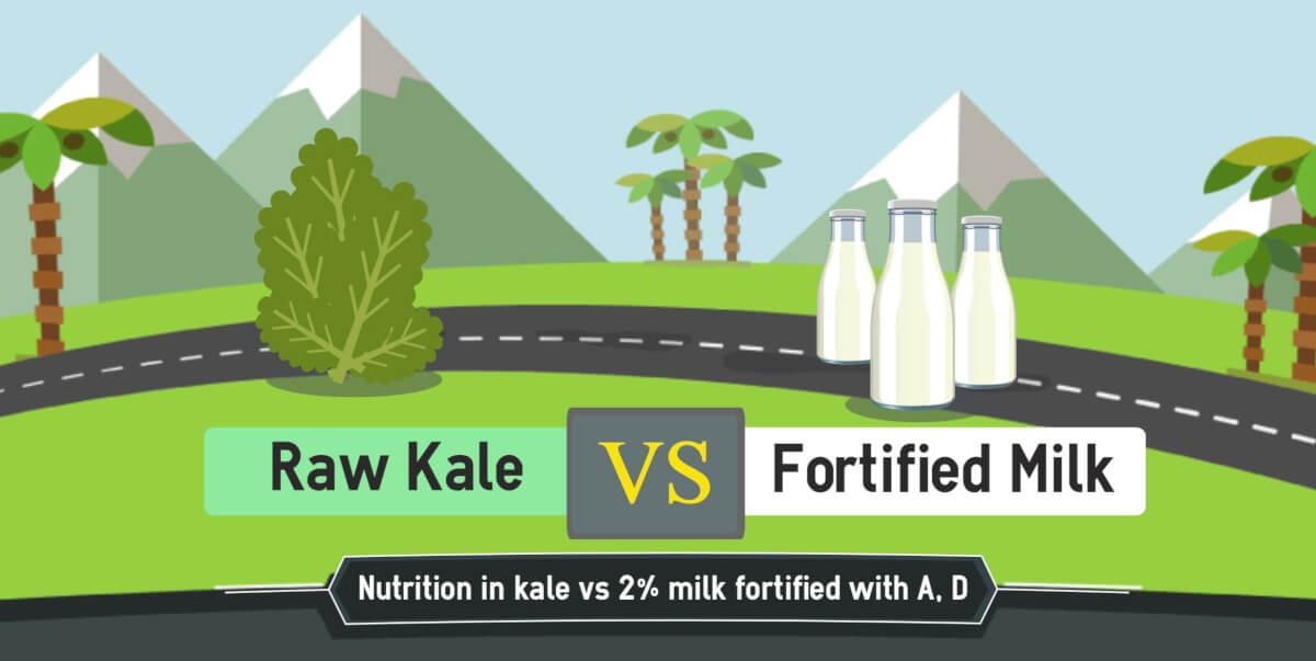 kale nutrition vs milk nutrition