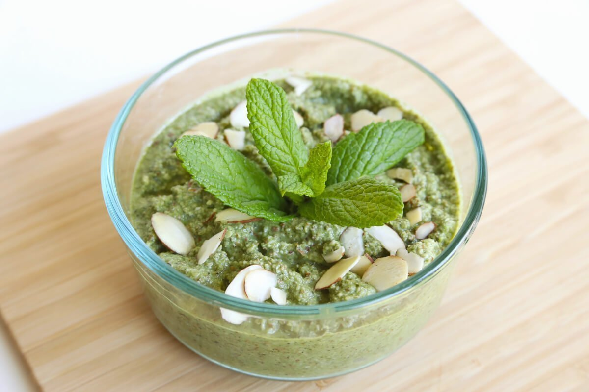 vegan basil almond pesto