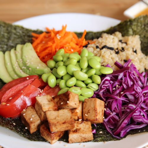 vegetarian nori bowl