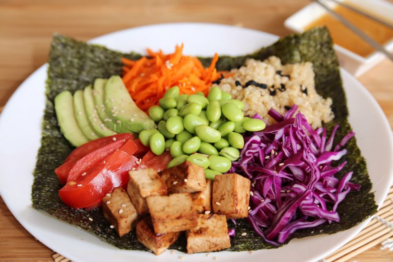 vegetatian nori bowl
