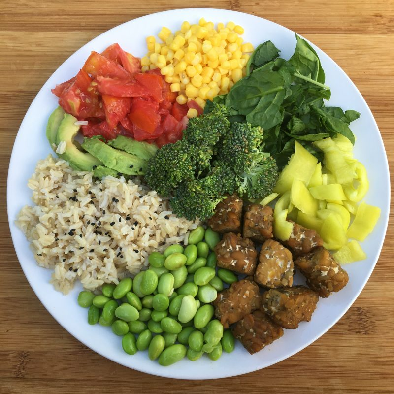 plate of plants with protein