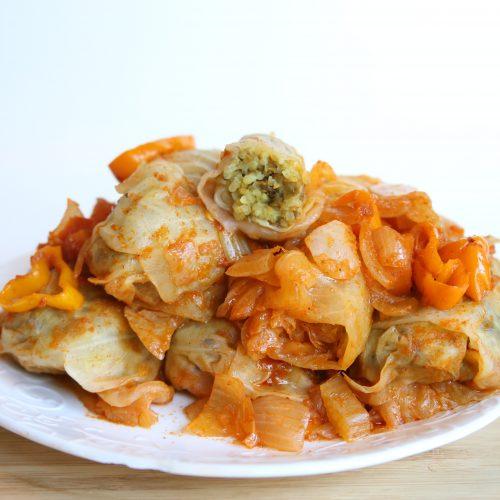 Vegan Stuffed Cabbage