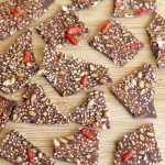 tempered chocolate bark