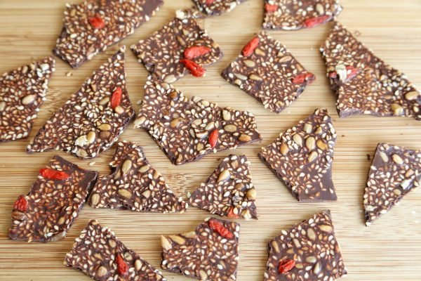 Homemade Chocolate Bark with Nuts