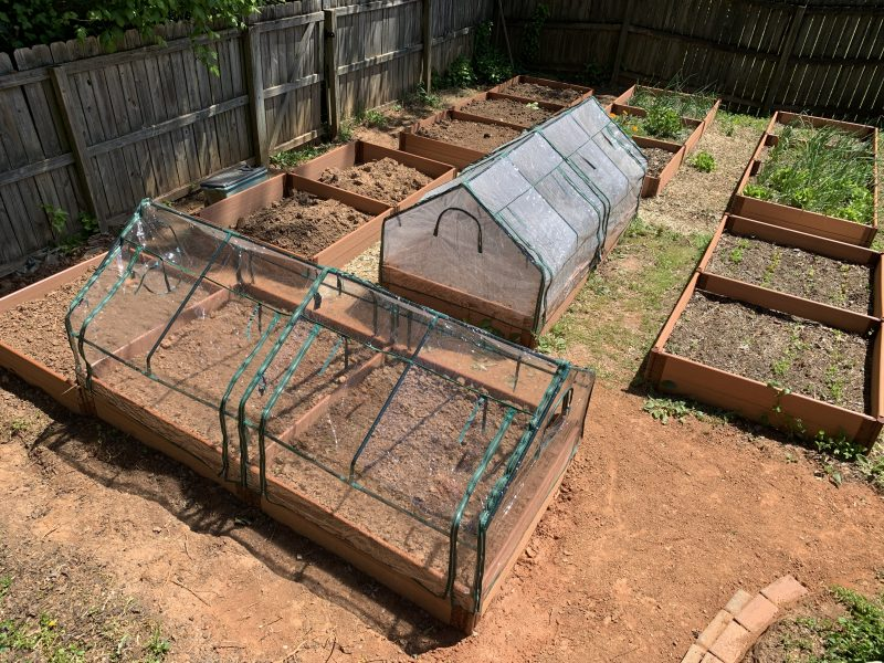 raised-bed garden slope layout
