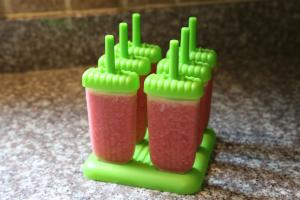 watermelon popsicle in molds