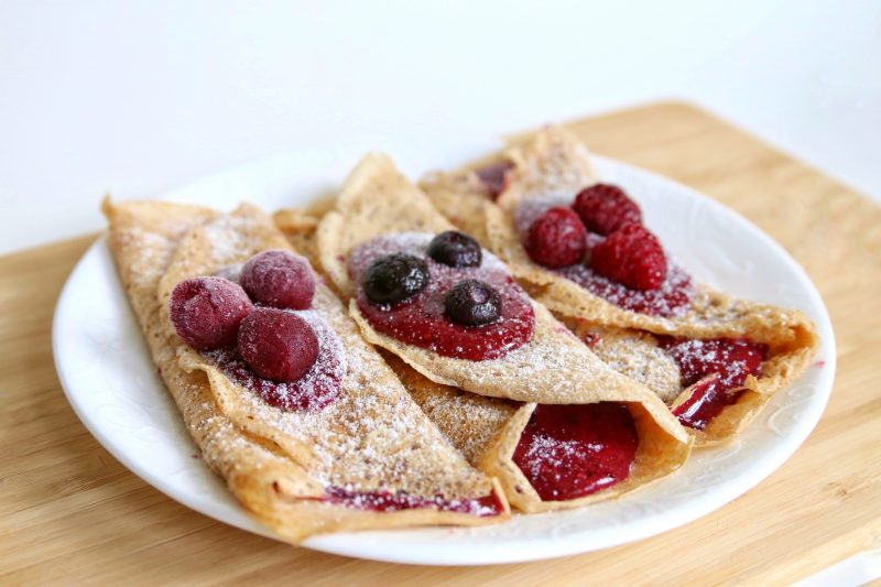 Vegan whole wheat crepes
