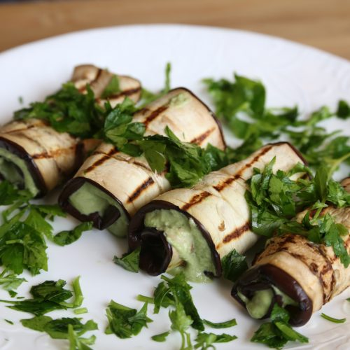vegan eggplant roll