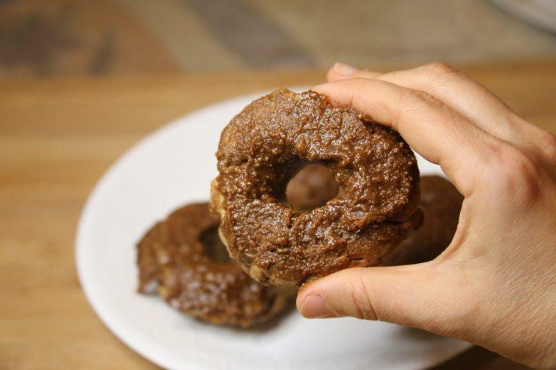 Vegan apple cinnamon donut